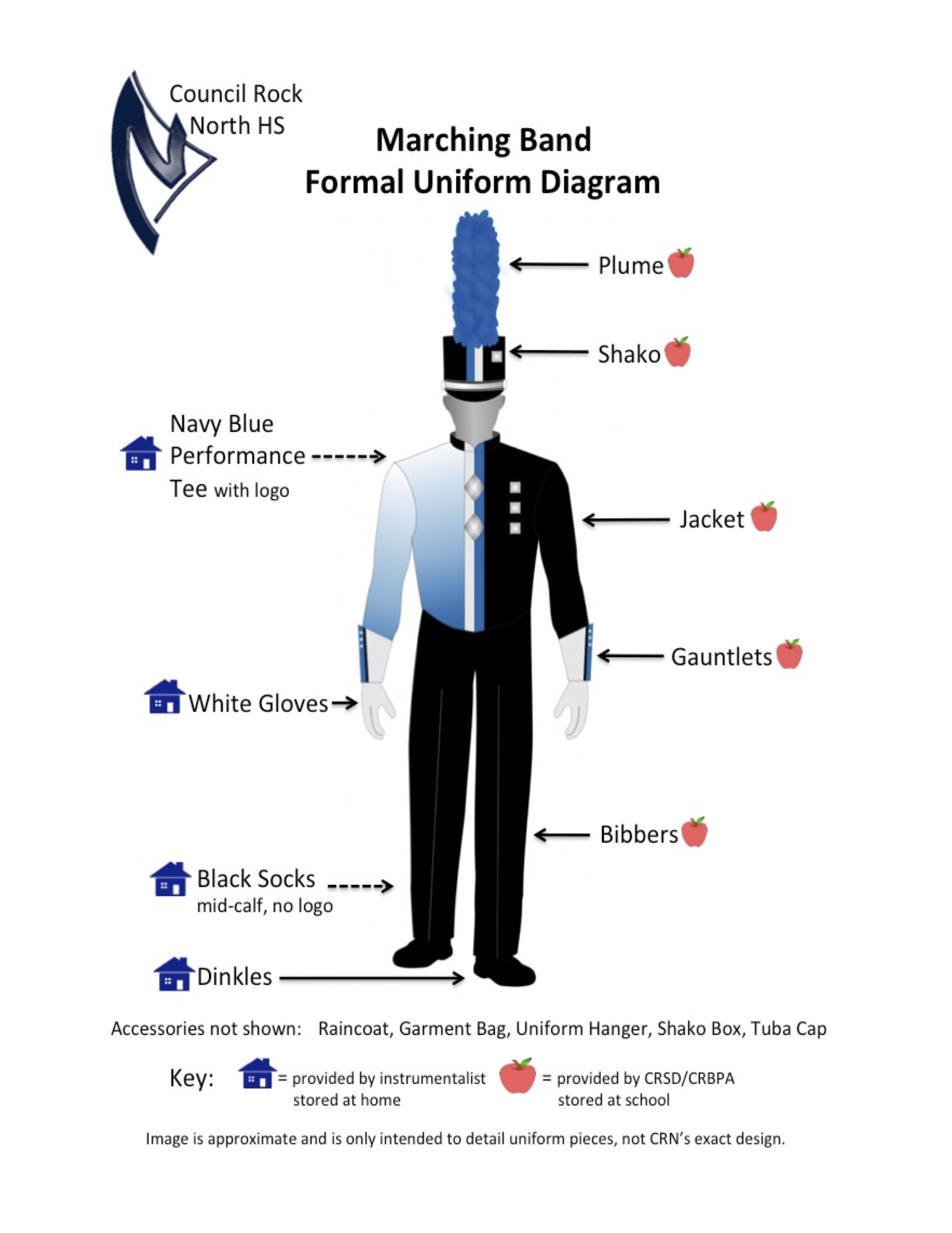 Marching Band Instrumentalist Uniform Information | Council
